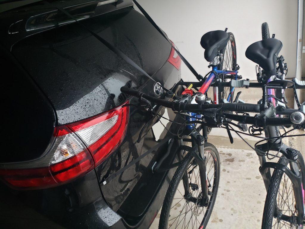 Car mount for bike for mini-vans.